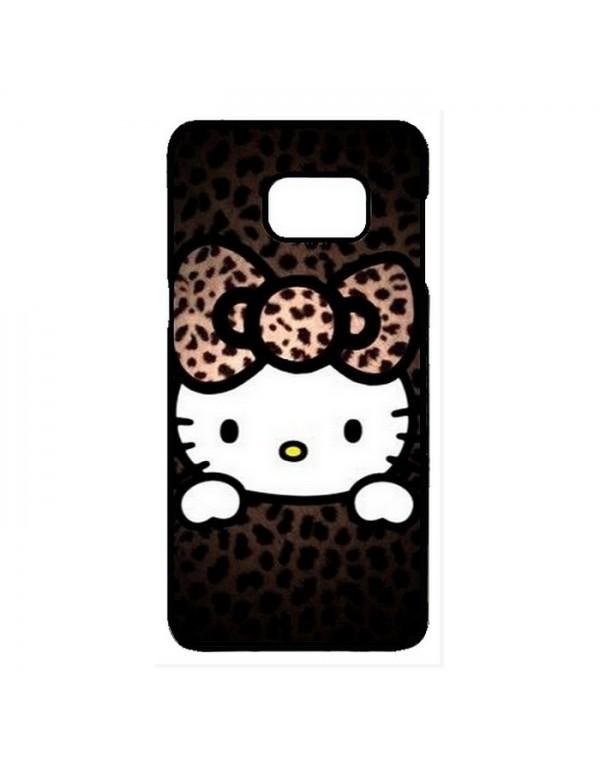 Coque rigide Samsung Galaxy S7 Edge - Hello Kitty marron