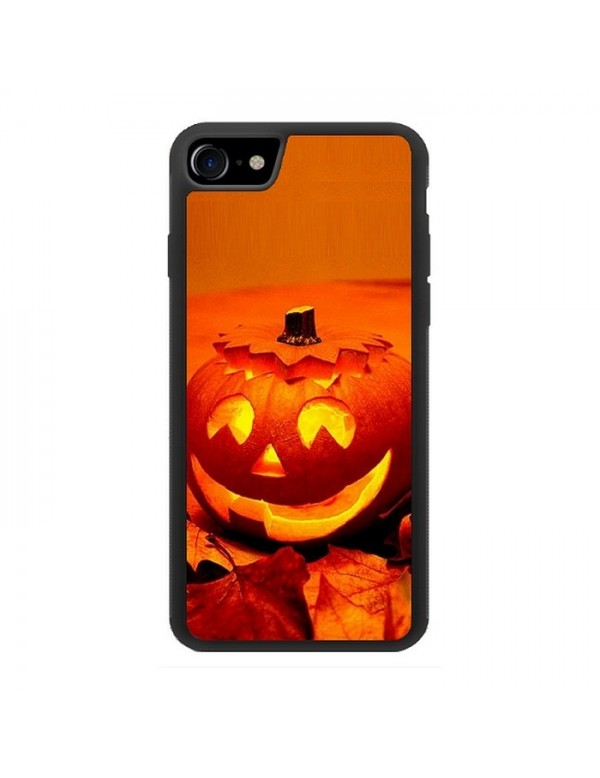 Coque iPhone 7/8 - Halloween citrouille orange