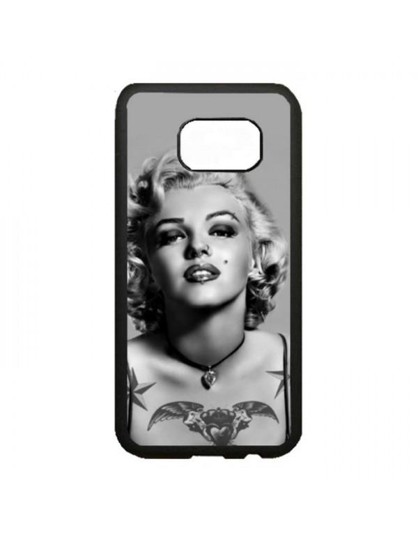 Coque rigide Samsung Galaxy S7 Edge - Marilyn Monroe Noir et blanc