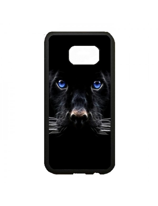 Coque rigide Samsung Galaxy S7 Edge - Panthere noire aux yeux bleus