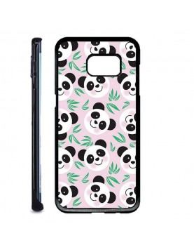 Coque rigide Samsung Galaxy S7 Edge - Panda fond rose