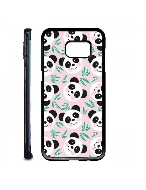 Coque rigide Samsung Galaxy S7 Edge - Panda fond rose