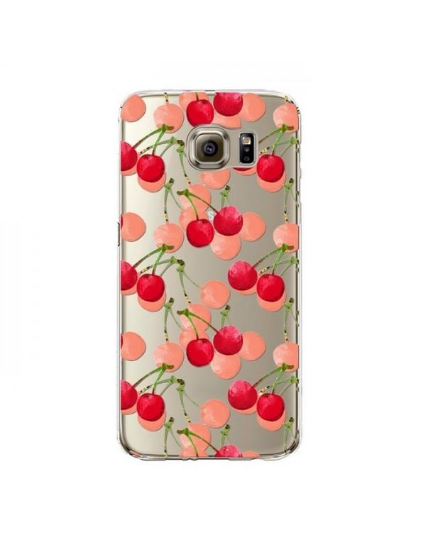 Coque silicone Samsung Galaxy S6 Edge Plus - Fruits de saison - Cerises