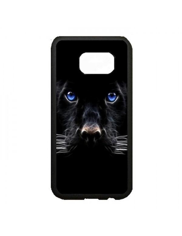 Coque rigide Samsung Galaxy S6 Edge Plus - Panthere noire aux yeux bleus