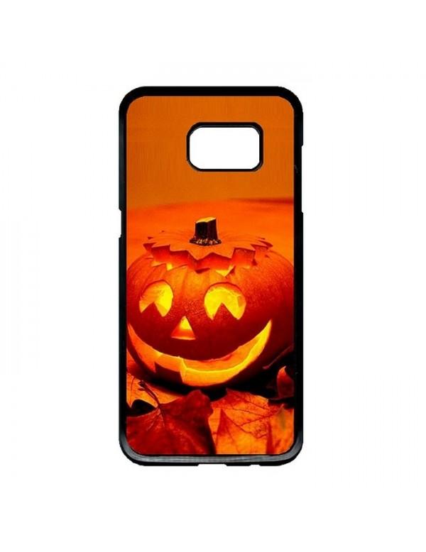 Coque rigide Samsung Galaxy S6 Edge Plus - Halloween citrouille orange