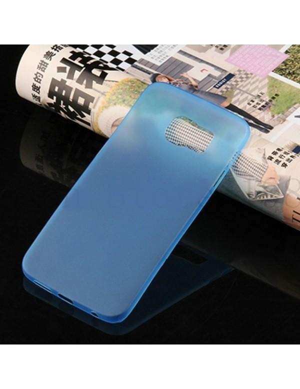 Coque silicone Samsung Galaxy S6 Edge Bleu