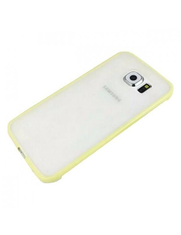 Coque silicone Samsung Galaxy S6 Edge contours Jaune