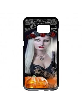Coque rigide Samsung Galaxy S6 Edge - Sorcière sexy halloween