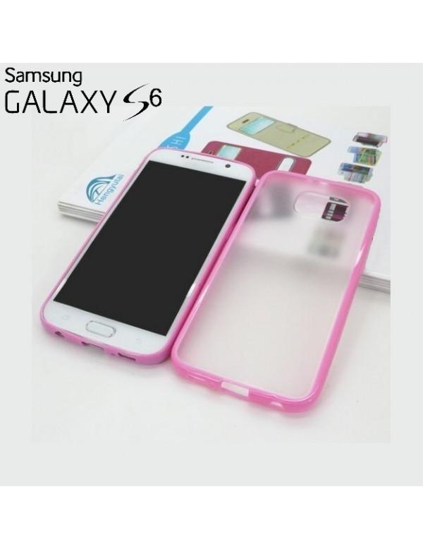 Coque Samsung Galaxy S6 contours Rose