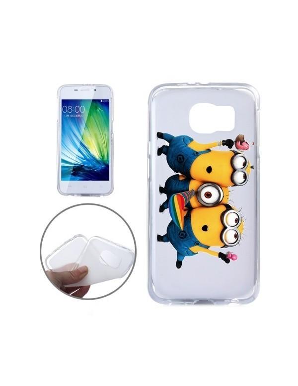 Coque souple les trois minions pour Samsung Galaxy S6