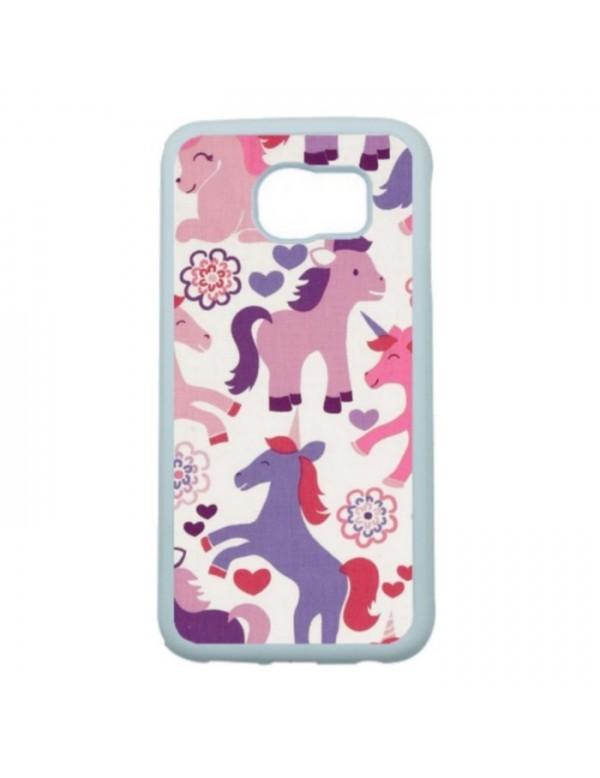 Coque Samsumg Galaxy S6   licornes de couleurs