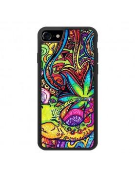 Coque zen pour iPhone 7/8 - look baba-cool multi-couleurs