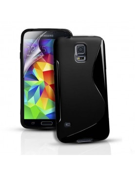 Coque-silicone-Samsung-Galaxy-S5-Mini-Grip-Flex-Noir