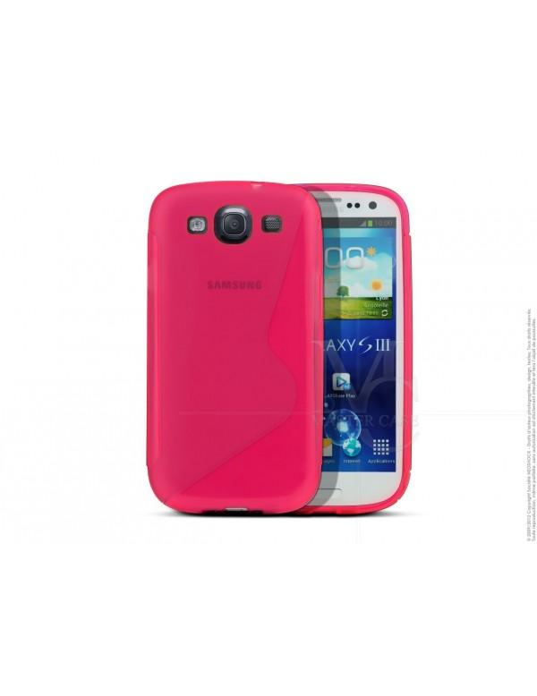 Coque Samsung Galaxy S3 Silicone Grip-Rose