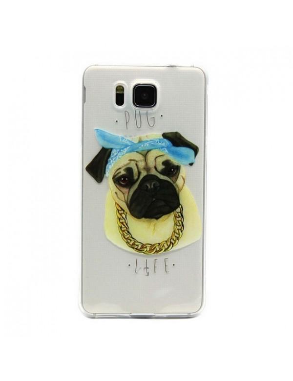 Coque silicone Samsung Galaxy Alpha chien bouledogue français