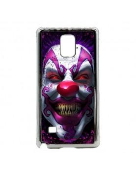 Coque-rigide-coté-argent-Galaxy-Note-4-clown-maléfique
