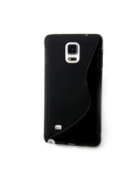 Coque silicone noir Samsung Galaxy Note 4 vue dos