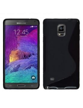 Coque silicone Samsung Galaxy Note 4 - Anti-dérapente noir