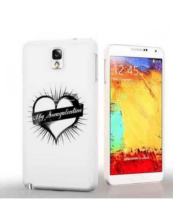Coque Samsung Galaxy Note 3 My Swagalentine-Blanc/Noir