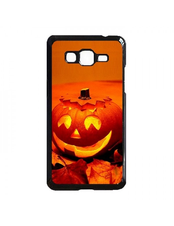 Coque rigide Samsung Galaxy Grand Prime/Grand Prime VE - Halloween citrouille orange