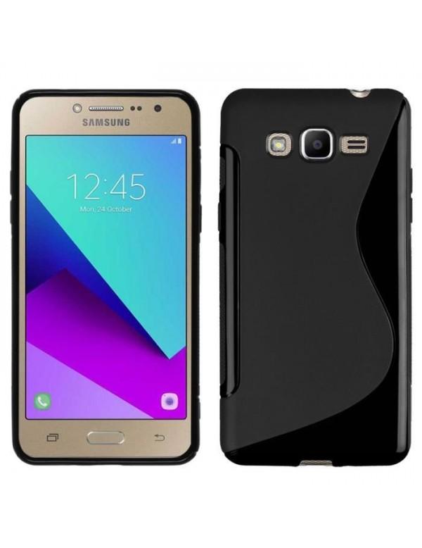 """Coque Minigel Noire Bi-Matières pour Samsung G7105 """"Grand 2"""""""