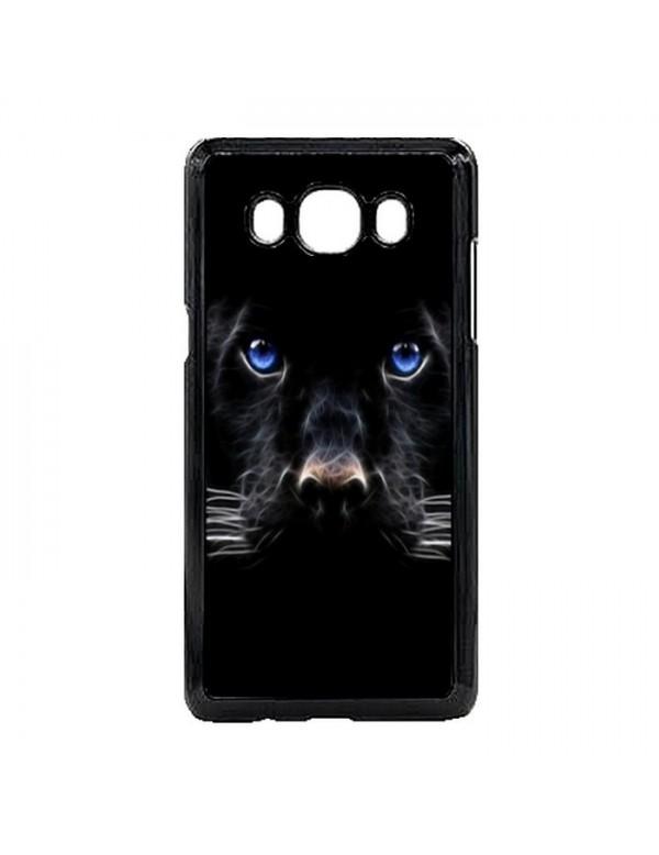 Coque Samsung Galaxy J5 2016 Panthere noire aux yeux bleus