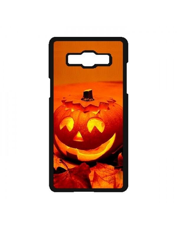 """Coque Samsung Galaxy A5 2015 """"Halloween"""" citrouille orange"""