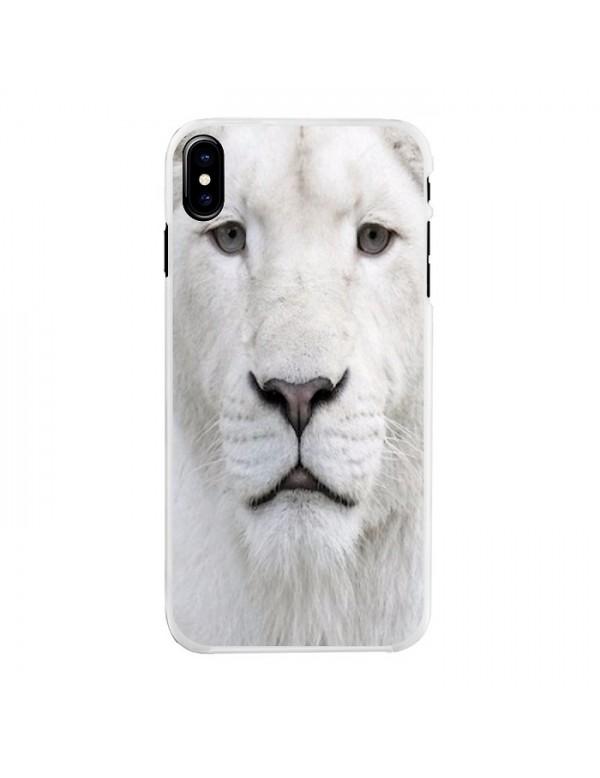 Coque iPhone X/XS Lion blanc