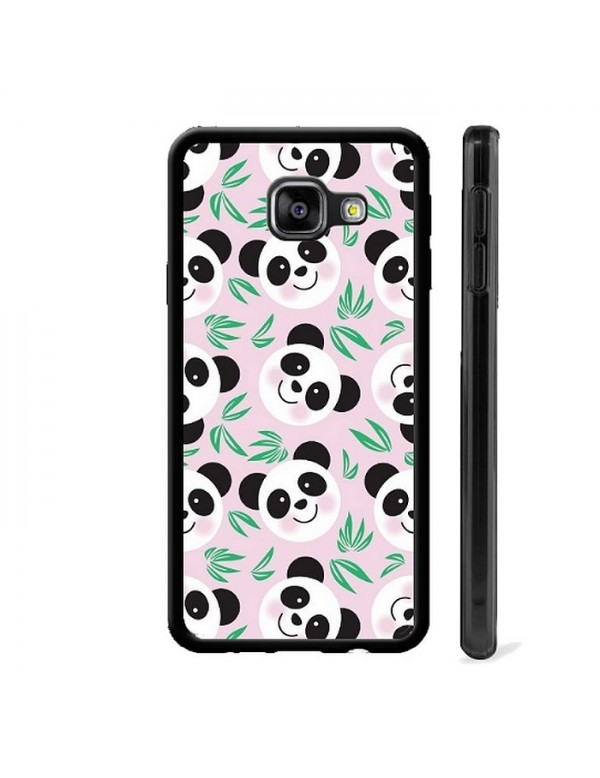 Coque  Panda fond rose pour Samsung  Galaxy A3 2016