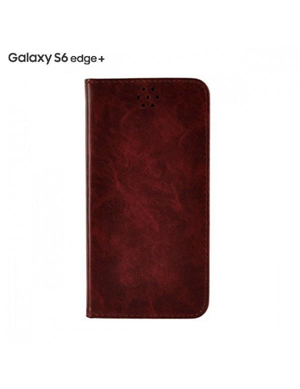 Samsung S6 Edge plus étui en simili cuir marron