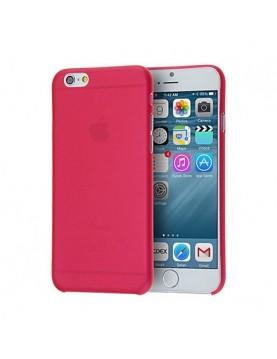 Coque Phone 7 et 8 en silicone rouge translucide
