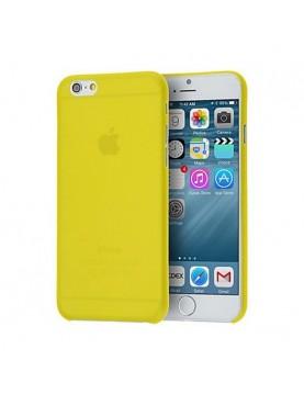 Coque Phone 7 et 8 en silicone jaune translucide