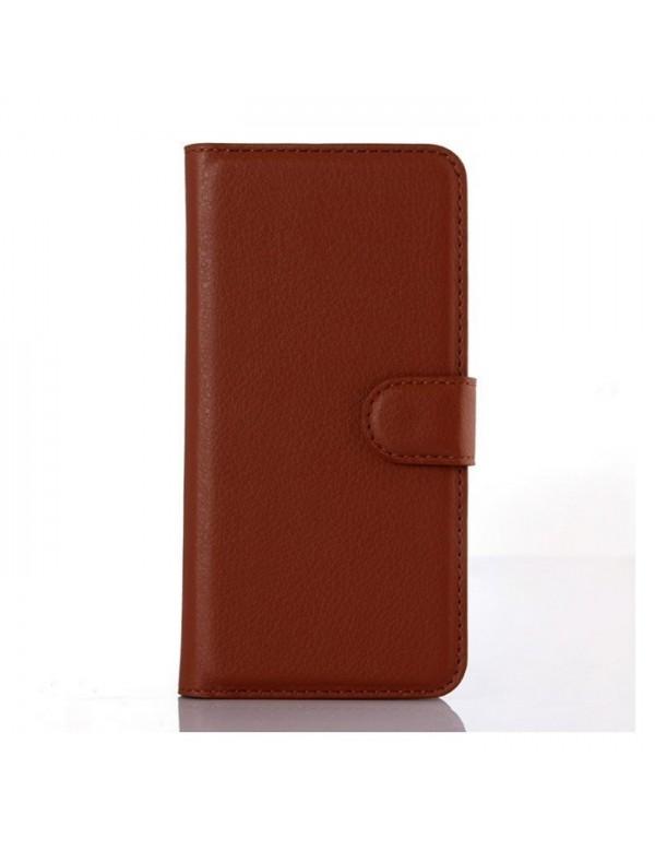 Etui marron pour Galaxy Grand prime format portefeuille avec range carte