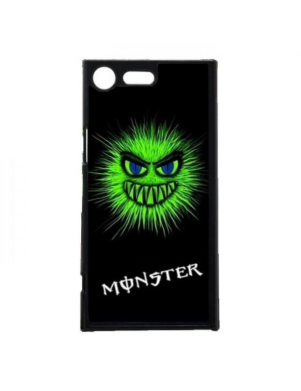 Coque rigide pour Sony Xpéria XZ Premium tete Monster vert fluo