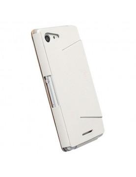 Etui Folio Ultra Fin Cuir Blanc Krusell pour Sony Xpéria E3