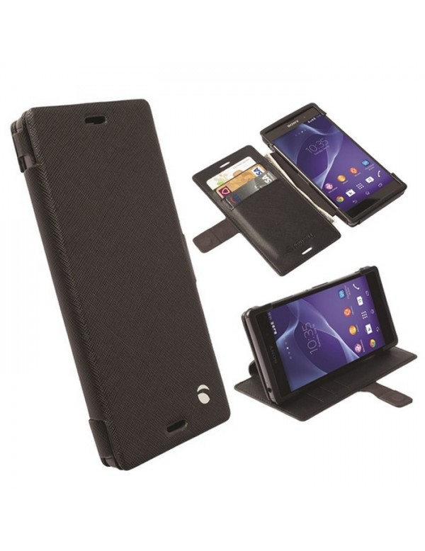 Etui portefeuille noir Krusell Sony Xperia Z3