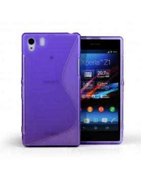 Coque Sony Xperia Z1 Grip Flex Color-Violet