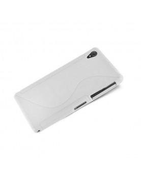 Coque Sony Xperia Z2 Silicone Grip-Blanc
