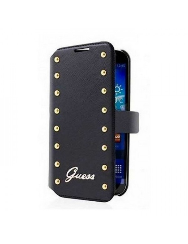 "Etui Folio Noir Guess ""Studded Collection"" Galaxy Trend Lite"