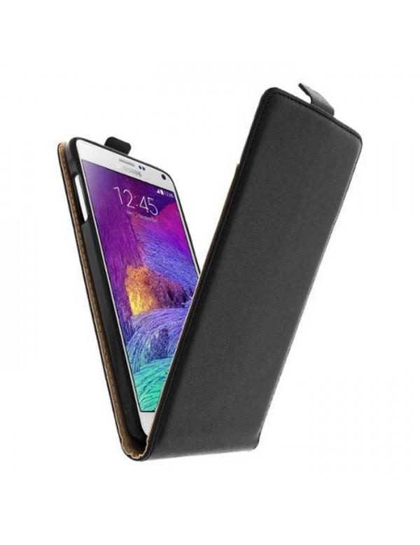 Etui Portefeuille Rabat Simili Noir pour Samsung galaxy note 4