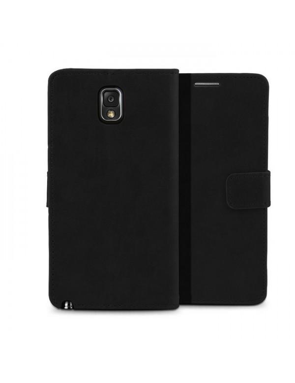 Etui Samsung Galaxy Note 3 - Leather Wallet-Noir