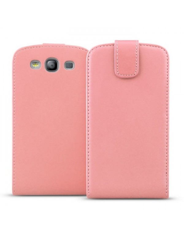 Etui Samsung Galaxy S3 Leather Color White Edition-Rose
