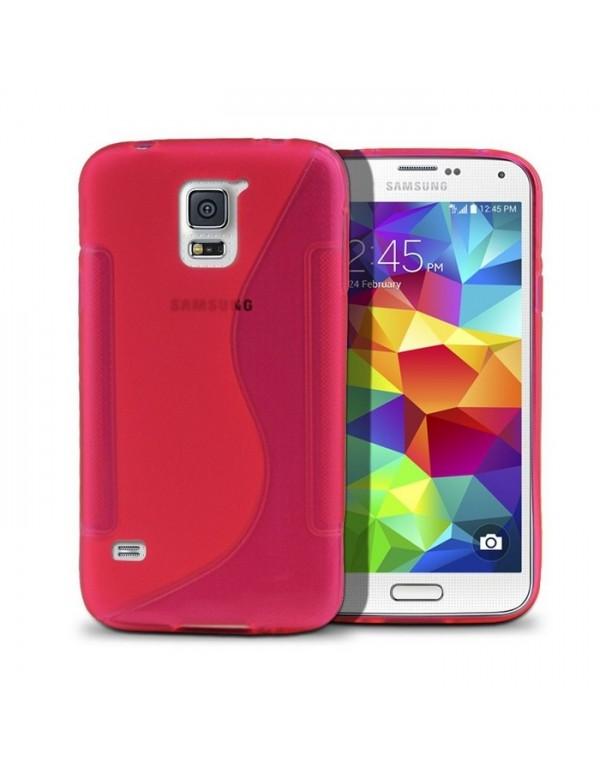 Coque Samsung Galaxy S5 Silicone Grip Rose