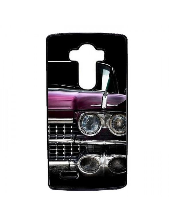 Coque rigide noir pour LG G4 - Cadillac violet chrome