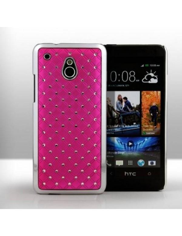 Coque HTC One mini - Luxury Leather-Rose