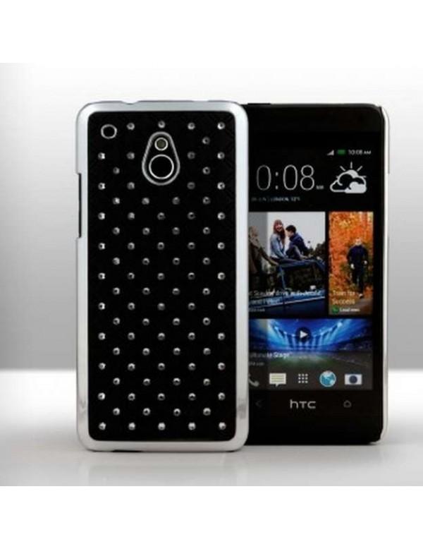 Coque HTC One mini - Luxury Leather-Noir