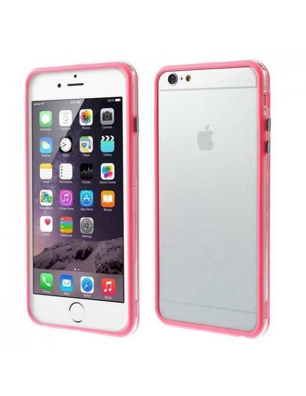 Bumper iPhone 6 Plus/6S Plus Silicone Rose translucide