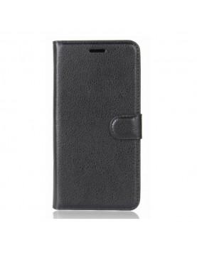 Etui housse portefeuille iPhone X/XS - Simili cuir noir