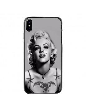 Coque iPhone X Marilyn Monroe Noir et blanc