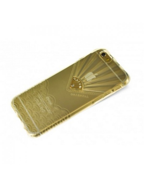 Coque iPhone 6 plus transparente ornée d un bijou